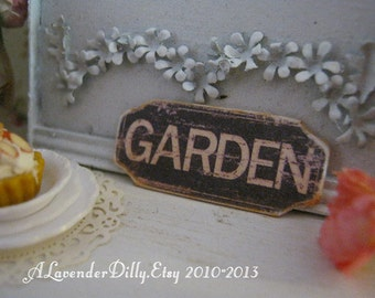 GARDEN Sign/Print for Dollhouse