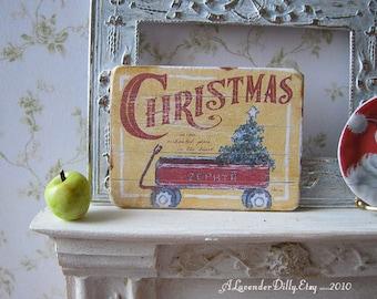 Christmas Zephyr Sign/Print for Dollhouse