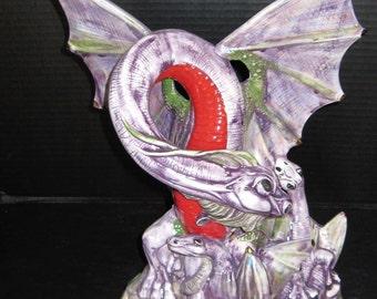 Ceramic Bisque Mother Dragon