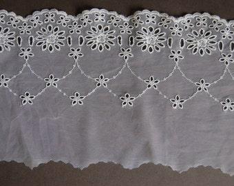 White Eyelet Beading Embroidery