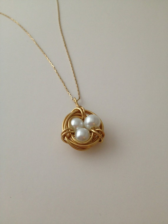 Bird Nest Necklace Pendant
