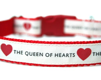 "Heart Dog Collar 3/4"" valentines Day Dog Collar SIZE MEDIUM"
