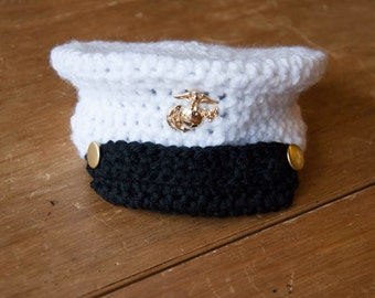 Newborn Boy Marine Hat - Made to Order