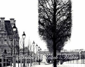Paris Art-Paris Photograph-Tuileries-Bicycle-Fashion Wall Art -Black and White-Preppy Print-Romantic -Parisian- Boudoir-French Nursery Decor