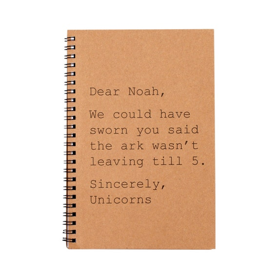 Journal - Dear Noah, Sincerely the Unicorns