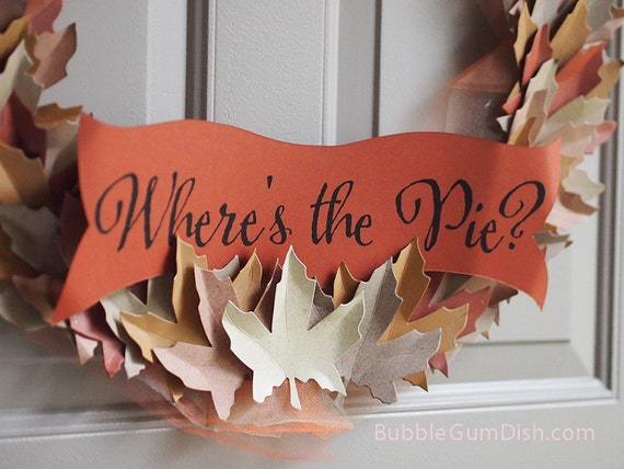 "Thanksgiving Wreath Autumn Harvest Leaves Fall Leaf Decor 18"" Large"