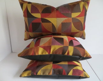 Brown Pillow Cover,16x16 Red Pillow Cover,Yellow Mustard Pillow Cover, Multicolor Pillow, Pillow Vinyl, Pillow cover, Black Vinyl Pillow