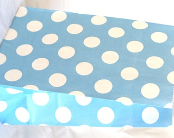 12 STanDing PolKA DoT Bags-blue---packaging-gifts-party favors-