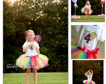 Sweet Shoppe Candy Party Birthday Tutu Outfit-Candy Birthday Tutu Set-Candy Party Tutu Set-Birthday Candy Tutu Outfit *Bow NOT Included*