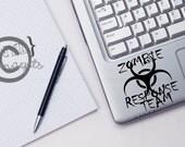 Zombie Response Team - Vinyl Wall Art