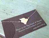 Hawaii, Hawaii Jewelry, The Big Island of Hawaii Sterling Silver Necklace handmade by Sparrow Seas, Maui