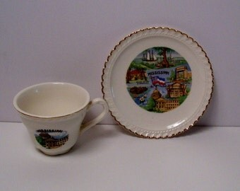 Mississippi Cup and Saucer Souvenir