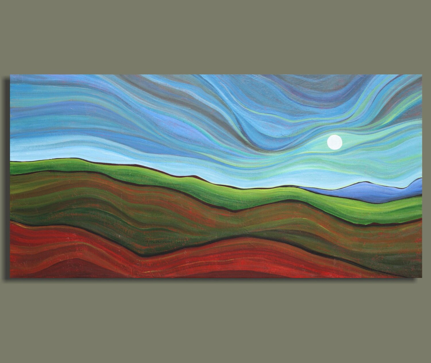 abstract landscape painting abstract painting hill country