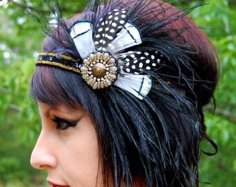 GOLDEN GIRL Feather Flapper Headband SALE