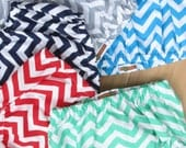 Baby Boy Diaper Cover, Chevron Baby Boy Diaper Cover - Aqua Chevron, Gray Chevron, Navy Chevron, Red Chevron, Mint Green Chevron