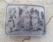 1974 Bergamot Alice in Wonderland Belt Buckle - Tweedle Dum and Weedle Dec