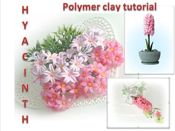 Hiacinth  Polymer clay tutorial