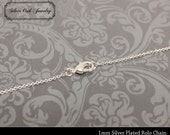 SOJ-006: Set of 10 - 22 inch Silver 1mm Rolo Chain Necklaces