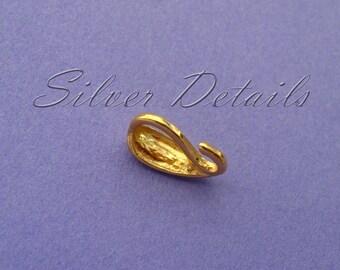 Gold Vermeil Sterling Silver Bail for Pendant model ES78AU 1 pcs