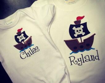 Pirate Applique Shirt for Kids