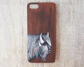 Hand painted Bison iPhone 5 or 5s case