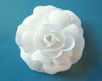 Custom Bridal Hair Flower - White or PInk Hair Accessory for Bride