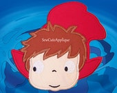 Ponyo No Sew Applique Patch