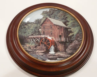 Glade Creek Grist Mill West Virginia Knowles Collector Plate Vintage