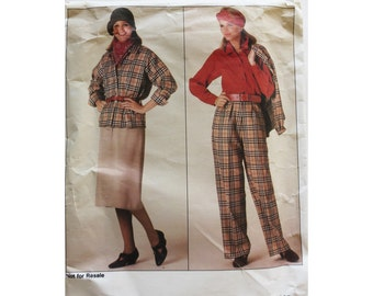 Jacket Skirt Pants Blouse Vogue 0995 Large