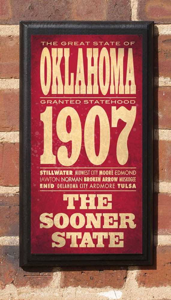 Oklahoma Ok Wall Art Sign Plaque Gift Present Home Decor Home Decorators Catalog Best Ideas of Home Decor and Design [homedecoratorscatalog.us]