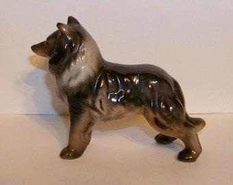 Lovely vintage Collie dog figurine - porcelain - puppy - collectible - Lassie - Japan