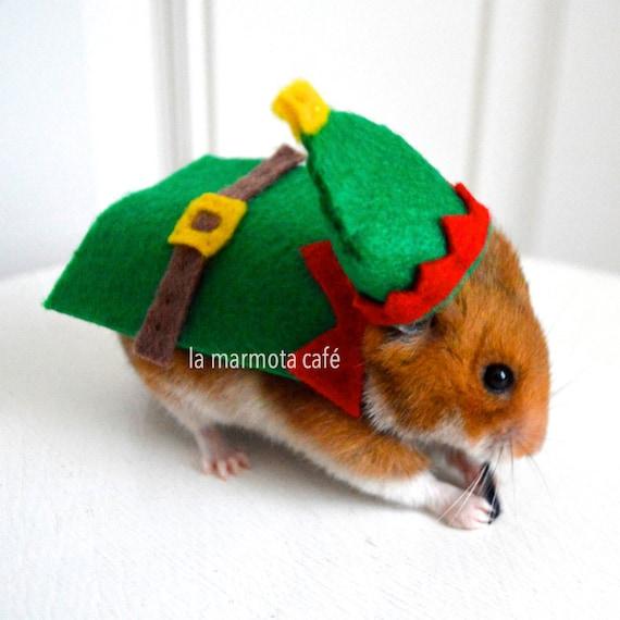 Hamster Halloween Costume Hamster Christmas Elf Costume