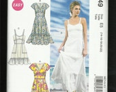 McCalls 6749 Prairie Chic Dresses Evening & Dancing Lengths with Sweetheart Necklines and Ruffled Tier Sizes 14 to 22 UNCUT