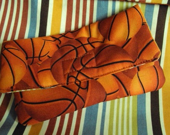 Sewing Mending Kit--stocking stufferbasketball and stripes, with all notions needed for hand sewing