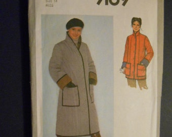 McCalls 9169,  jacket and coat,  size 14