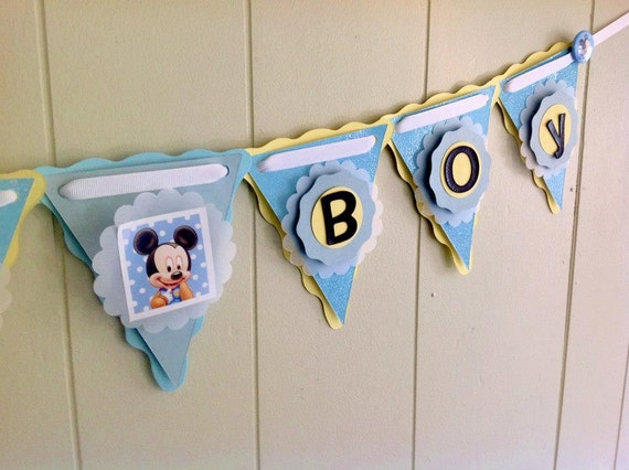 Baby Mickey Baby Shower Decoration Mickey by BeantownBabyCrafts