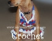 Instant Download Crochet Pattern - Dog Bikini top and Ruffle Skirt - Small Dog Bathing Suit