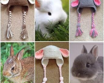 Crochet Bunny/Rabbit Beanie/Hat