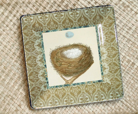Items similar to birds nest robins egg decorative for Egg tray wall hanging
