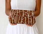 Brown clutch - simple clutch Twiggy in Brown