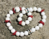 27 bead hand mala with naga shell & coral