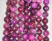 8mm Purple Sugilite Gemstone Purple Round 8mm Loose Beads 15.5 inch Full Strand (90111933-210a)