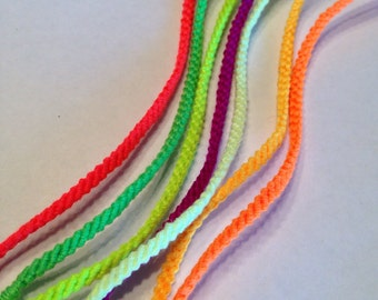Mix and Match Neons - Thin Friendship Bracelets