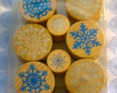 Martha Stewart Crafts Snowflakes Wooden Stamp and Ink Set -- Christmas Holidays Winter