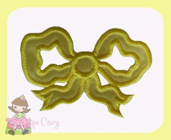 Victorian bow Applique design