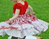 Peasant Dress Pattern, Long and Short Sleeves, Baby,Toddler, Girls Sewing Pattern Pdf, Allana Ruffled Dress, Girls Peasant Dress Pattern
