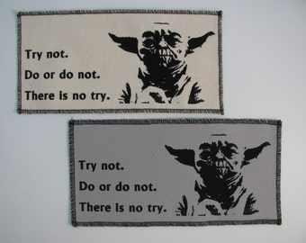 Yoda canvas Patch- choose from eleven different colors....FREE SHIPPING USA