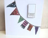 Handmade Bunting Celebration Card