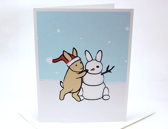 Snow Bunny Christmas Cards