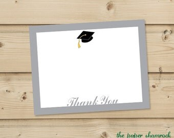 Graduation Thank you Cards, Thank you Card, Personalized Thank you Card